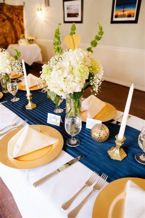 40 Navy Blue and Gold Wedding Ideas ? Page 4 ? Hi Miss Puff