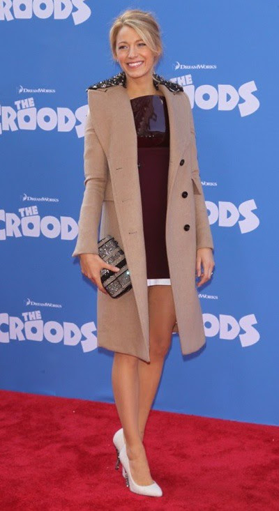 2 Blake Lively wearing Burberry to the Croods Premiere in NYC 10.3.13