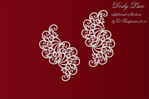 Doily Lace - Lace borders 01 - Koronkowe bordery 01
