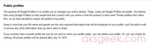 Google+ public profiles