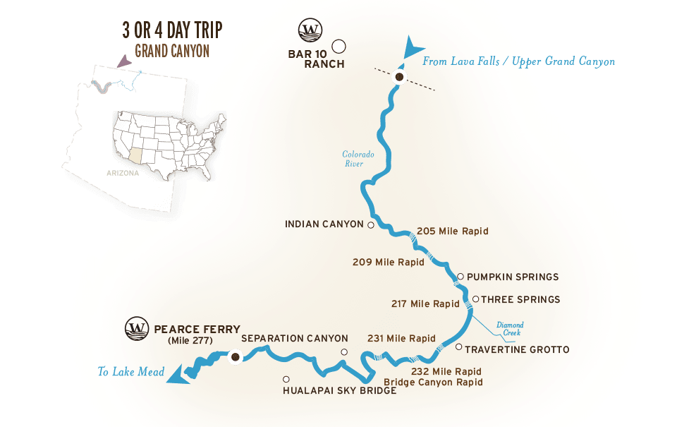 Us Map Grand Canyon Location