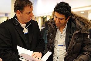 Michael Arrington, famous blogger, and Tariq K...