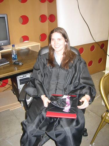 Rebecca in the studio
