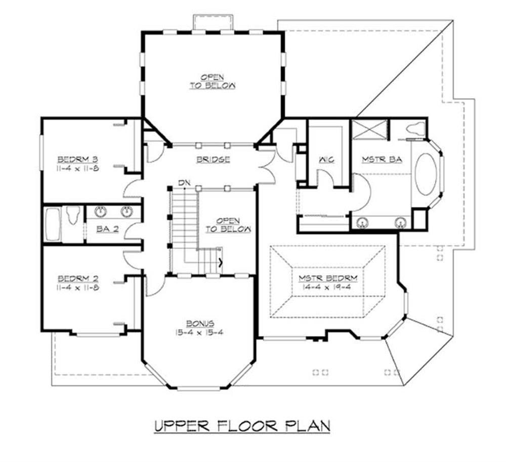 Craftsman Home Plan with 3 Bedrooms, 3130 Sq Ft House Plan ...