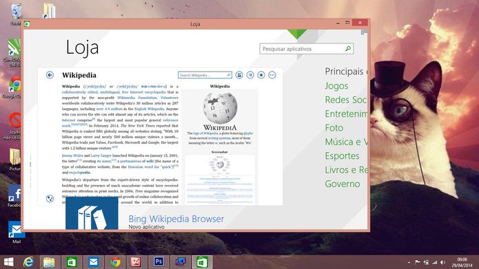 ModernMix permite que usuário redimensione janela de aplicativo do Windows 8 para tamanhos menores (Foto: Reprodução/Elson de Souza)