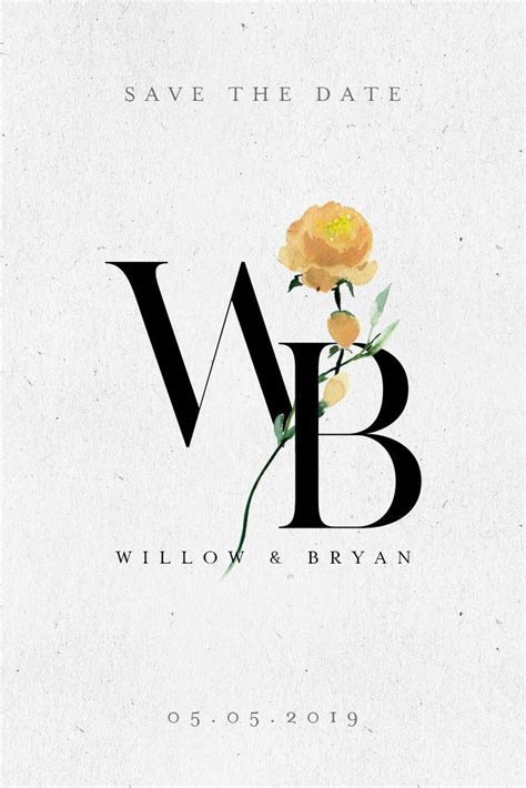 The Yellow Rose in 2019   Wedding Logo Designs   Wedding