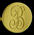 Carrington B monogram cufflinks. (J7513)