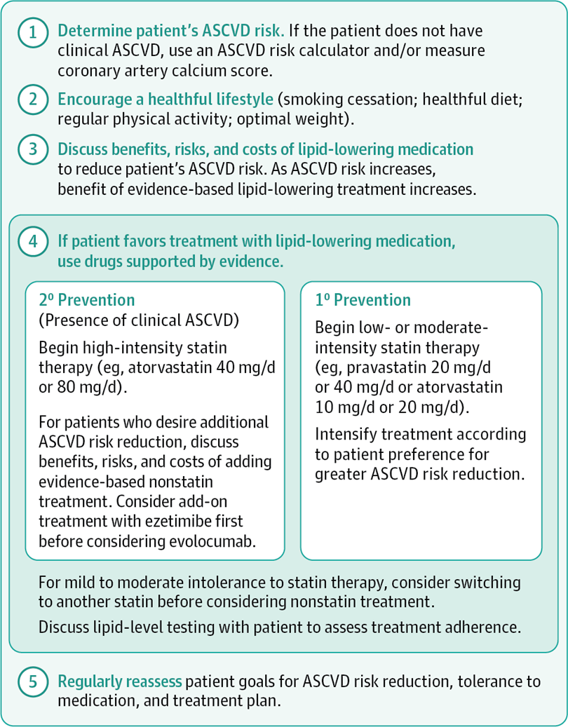 Lipid-Lowering Therapy to Reduce Risk of Atherosclerotic Cardiovascular Disease (ASCVD)