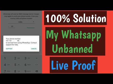 Whatsapp Banned Number Unbanned 100% Solution With Proof