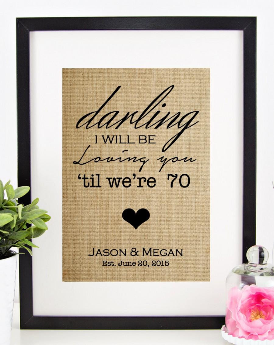 Dekor Thinking Out Loud Lyrics Burlap Print 2400654 Weddbook