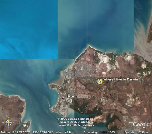 Darwin from space
