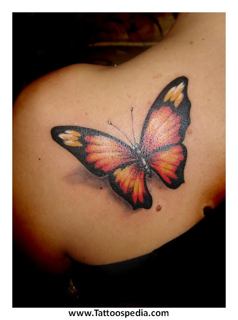 Butterfly Tattoo Designs With Music Notes 5