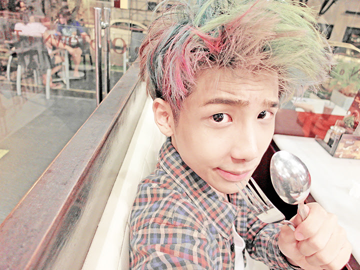 typicalben rainbow hair fork and spoon