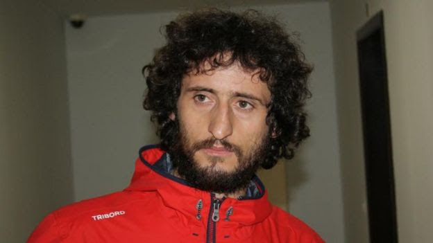 A handout photo released by the Albanian police shows Ismail Morinaj, (7 Oct)