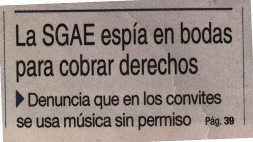 sgae, derechos musica boda