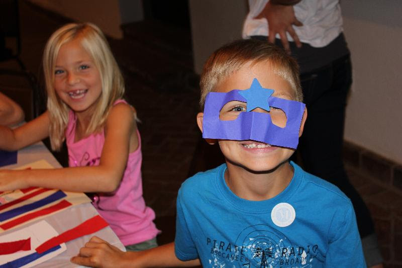 Boy with blue mask
