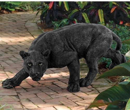 Shadowed Predator Panther Statue - modern - garden sculptures - by ...