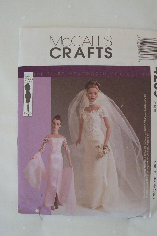 Barbie Type Doll Wedding Gown Pattern