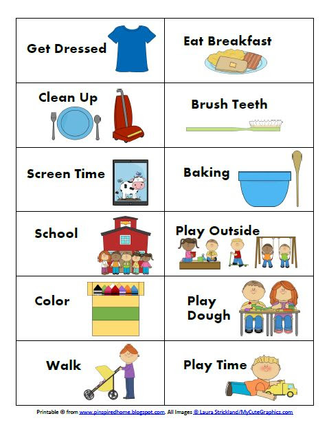 1000+ ideas about Visual Schedule Printable on Pinterest ...