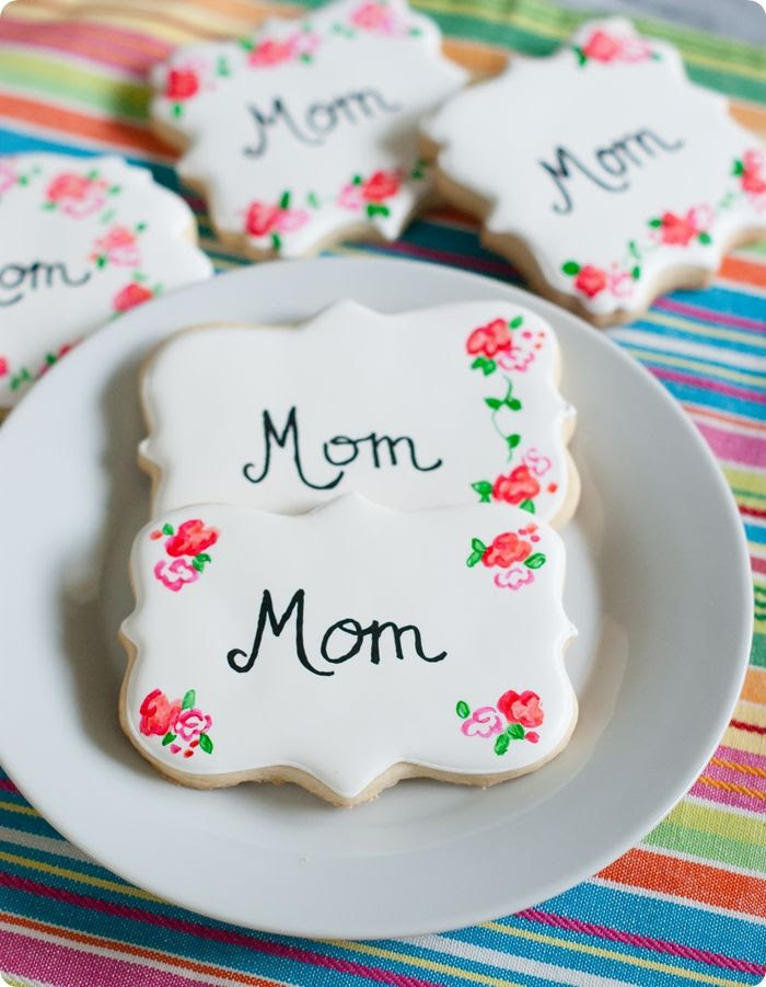painted rose decorated cookies ... perfect for Mother's Day
