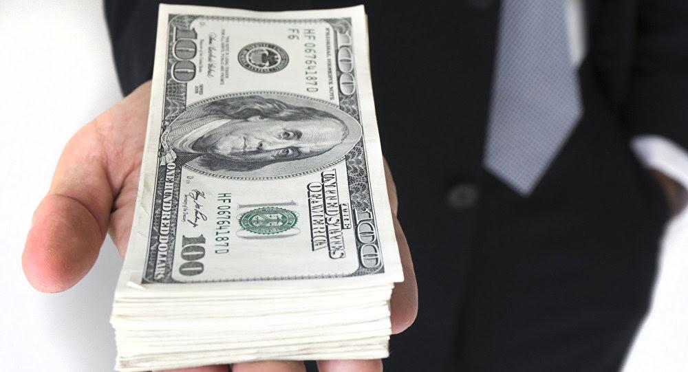 Persona sosteniendo dólares de EE.UU.