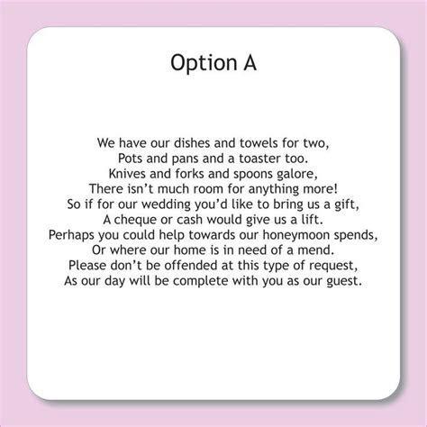 wording for wedding invitations asking for money   Google