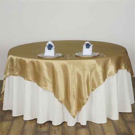 "15 pcs 72x72"" Square SATIN Table Overlays Wedding Linens"