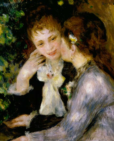 Image: Pierre-Auguste Renoir - Confidences (Two Best Friends)