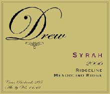 ■ドリュー ファミリー  リッジライン シラー  [2006] Drew Family Ridgeline Syrah [2006...