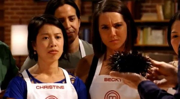 Christine Ha and Becky Reams learn how to cook sea urchin in tonight's episode of MASTERCHEF.
