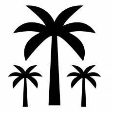 椰子シルエット イラストの無料ダウンロードサイトシルエットac