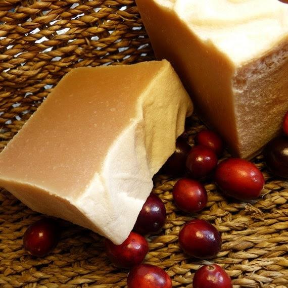 Cranberry Soap, Cranberry Spice Soap, Vegan Soap, Homemade Cranberry Tea Soap
