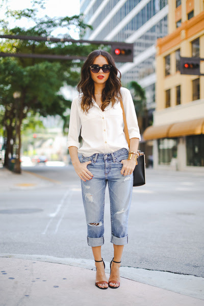 brown shoemint shoes - light blue AG Jeans jeans - brown Sole Society bag