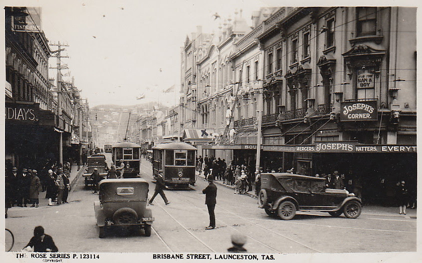 Brisbane Street Launceston In Tasmania Circa 1940 Flickr