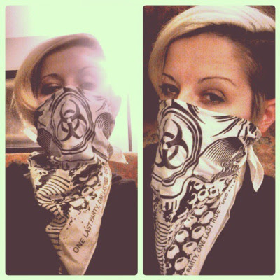 MotoLady Gas Mask Bandana!  Just ordered more black ones. $12