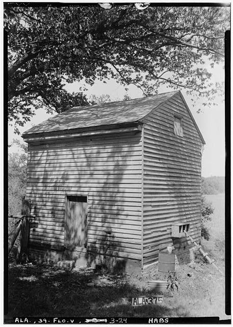 24.  Historic American Buildings Survey Alex Bush, Photographer, August 7, 1935 SMOKE HOUSE, WEST ELEVATION - Forks of Cypress, Savannah Road (Jackson Road), Florence, Lauderdale County, AL