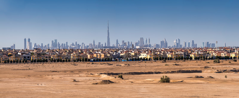 The desert is becoming smaller, Dubai