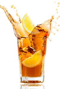 pour into an ice pot Lemon iced tea recipe