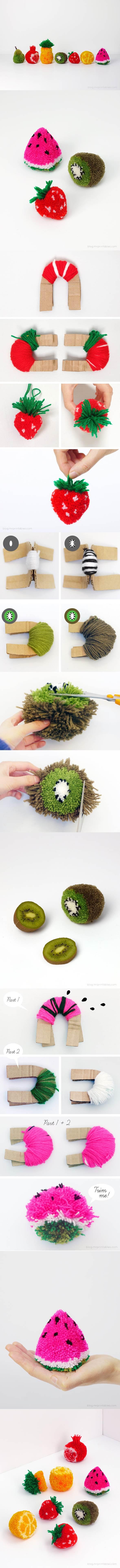 DIY Fruit Pom Poms 2
