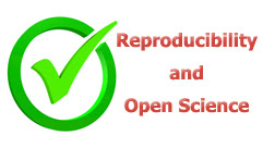 checkmark and Reproducibility and Open Science