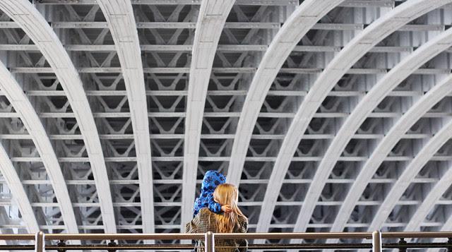 Sheltering Under Blackfriars Bridge