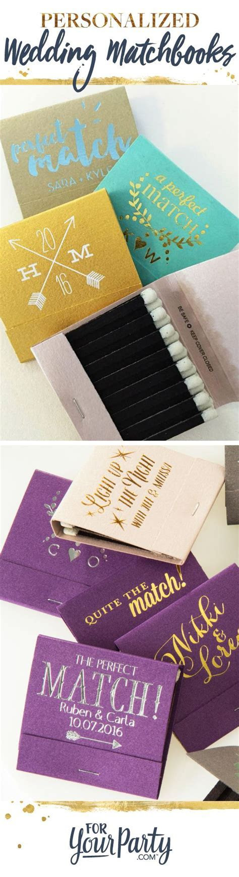 Create your own wedding matchbooks to give as affordable