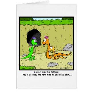 Tattoos: Snake Cartoon Cards