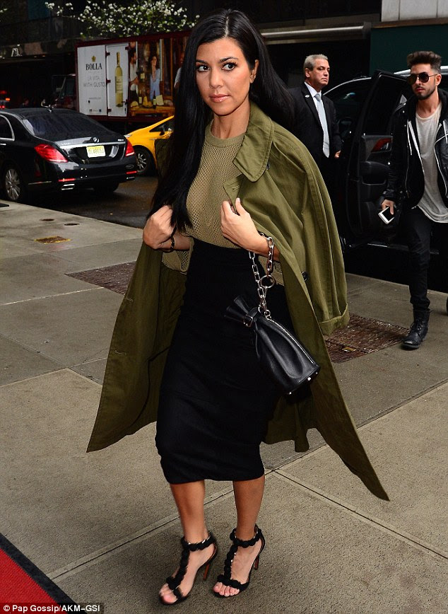 A stunning sight: Kourtney looked gorgeous for the outing in as she showed off her slim but curvy figure