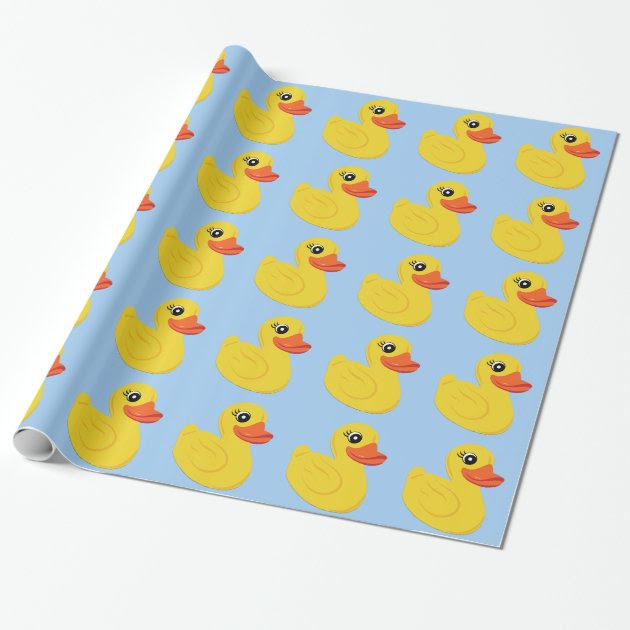 Yellow Rubber Duck Wrapping Paper Mimogiftscom