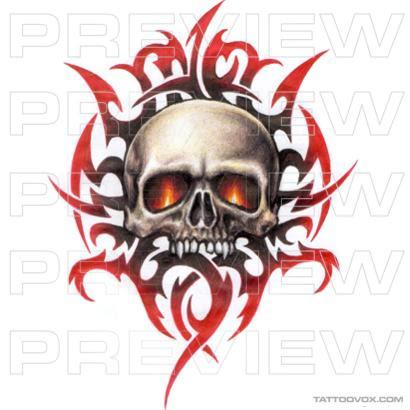 Tattoovox Award Winning Tattoo Designs Online Tribal Skull Tattoo