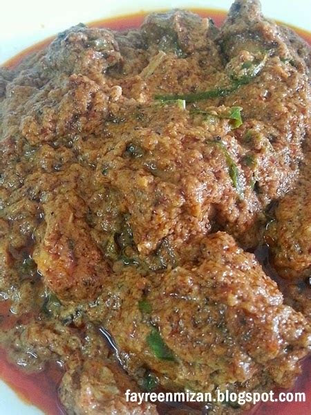 resepi rendang ayam daging  sedap  mudah