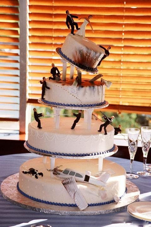 real cool wedding cake