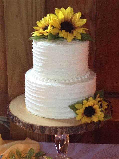 "6"" & 8"" chocolate layer 2 tier wedding cake. Rustic iced"