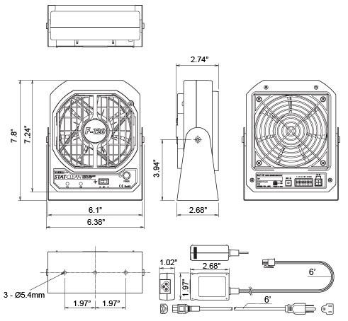 F120-E Dimensions